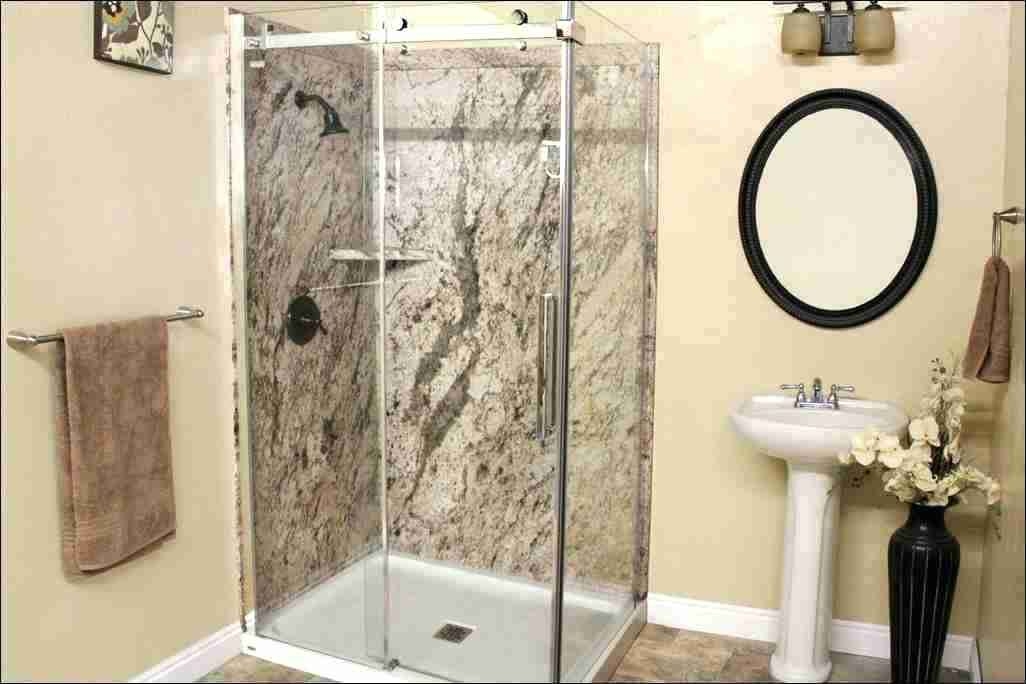 Solid Surface Shower Walls Kit Bath Shower Wall Panels On Bathroom