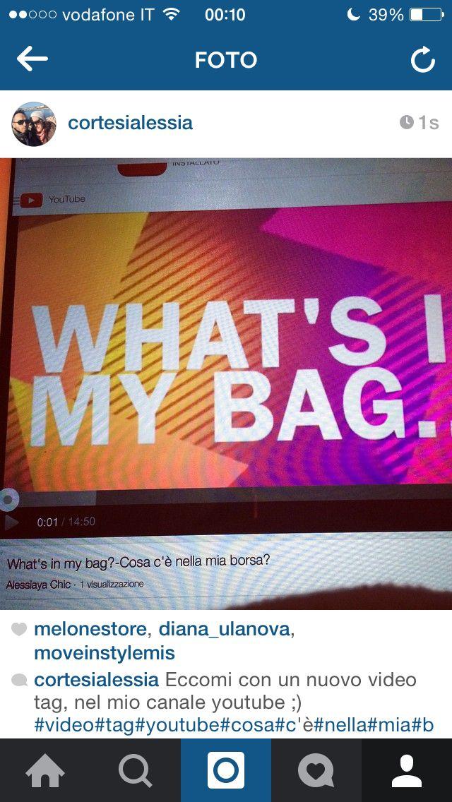 What's in my bag:) video tag presente sul mio canale