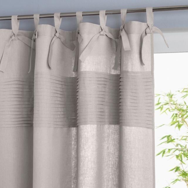rideau pur lin finition pattes 5 coloris h350 33e assez transparent tissus rideaux en 2019. Black Bedroom Furniture Sets. Home Design Ideas