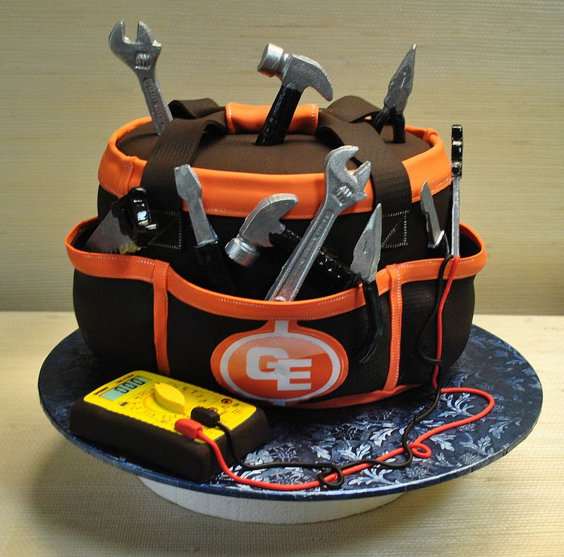 Electrician Tool Bag-anniverssary Cake-tools-The Cake Zone
