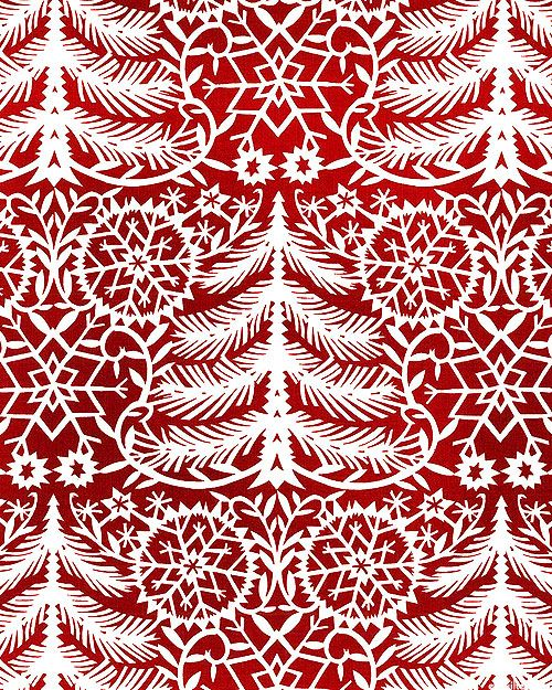 Kalinka - Christmas Tree Ombre - Burgundy