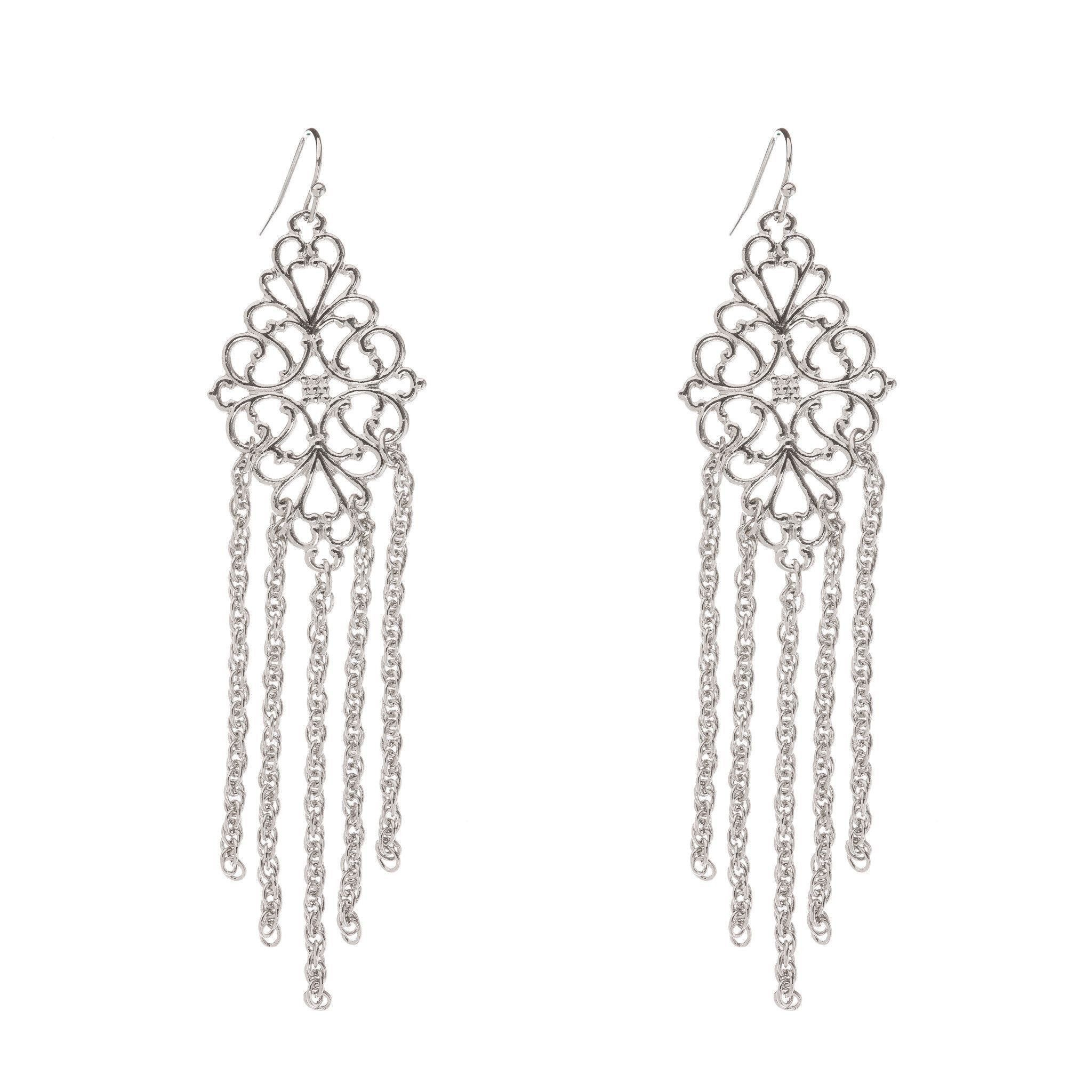 fringe lush earrings fashion lounge products detailed cream dsc