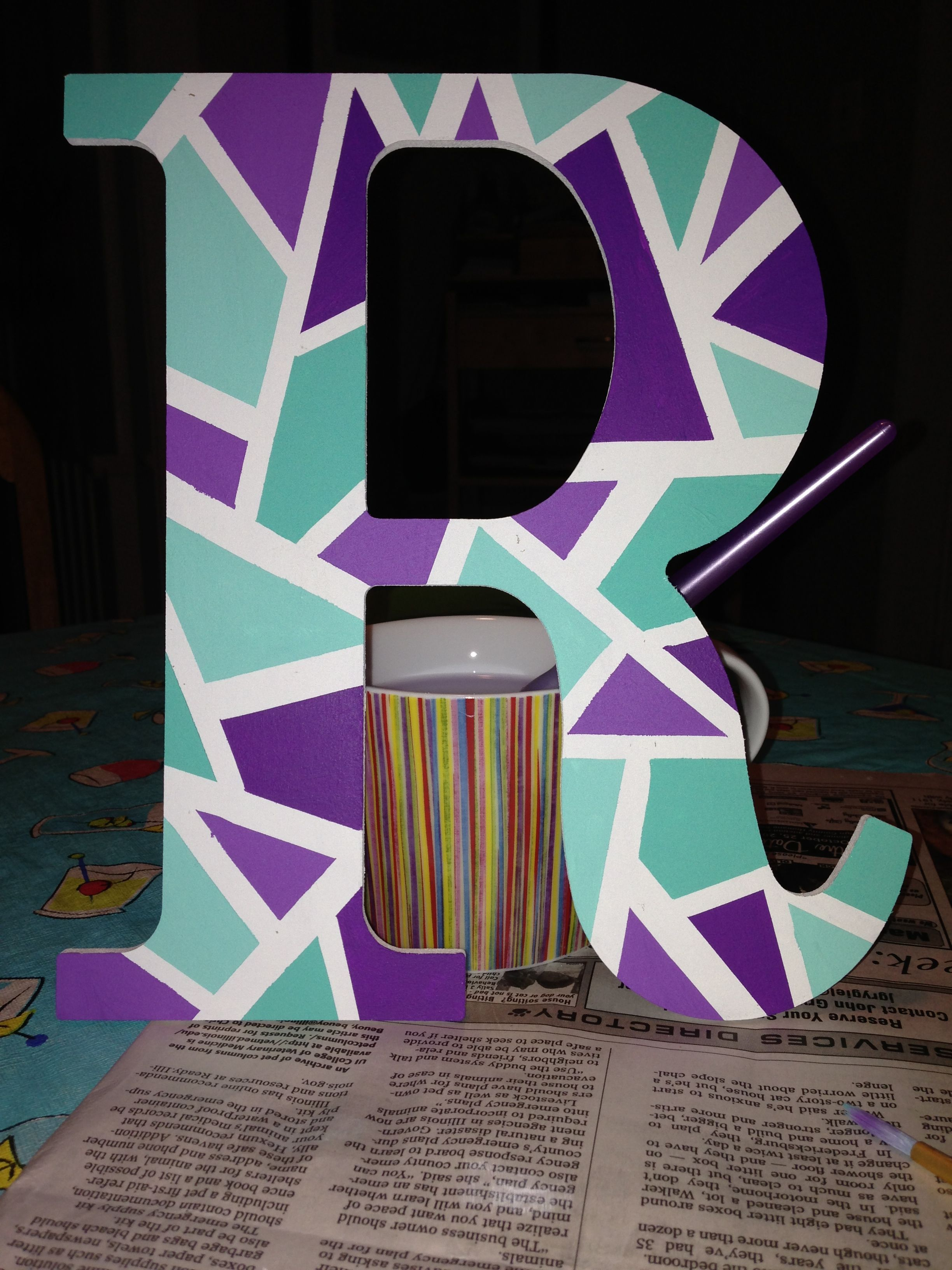 Colorful Abstract Letters For Dorm Decoration Dorm Wooden
