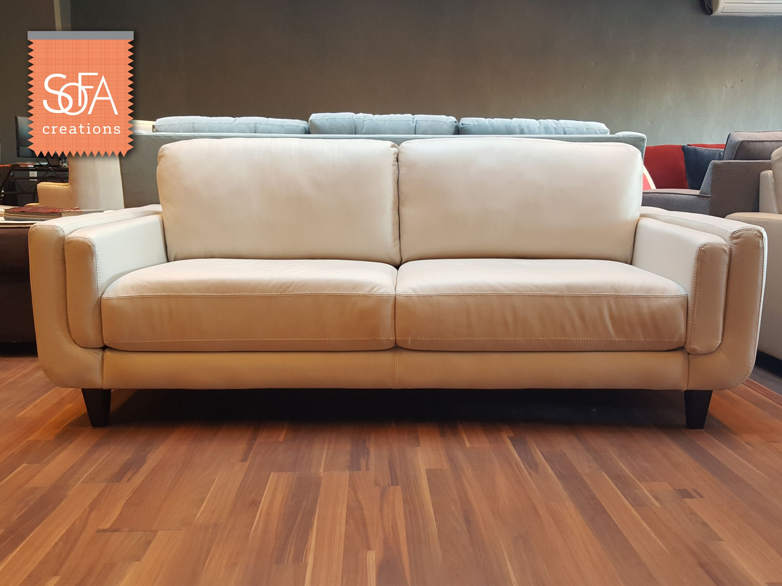 Seine Sofa In Top Grain Leather On Display In Our Redwood City