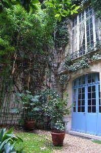 Paris Arrondissement 6 Vacation Rental - VRBO 232175 - 2 BR Paris Apartment in France, Artist/Owner's Split Level Garden Loft-St Germain Des Pres