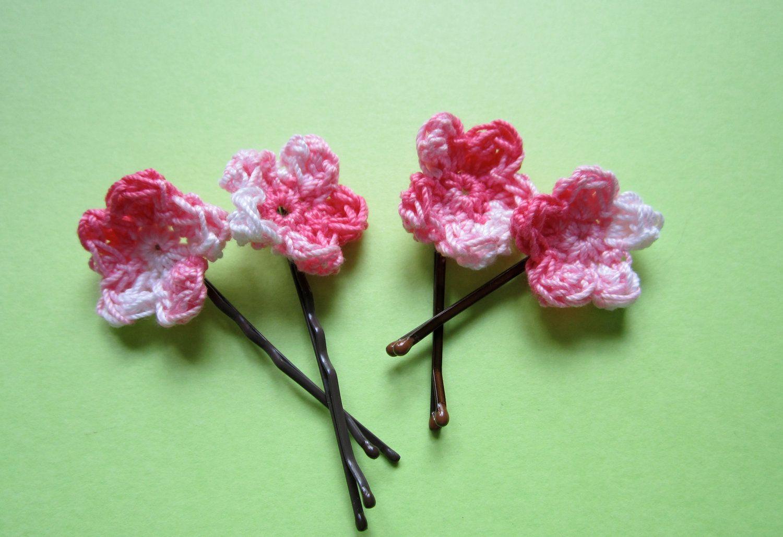 Apple Blossom Hair Accessory. $6.40, via Etsy.