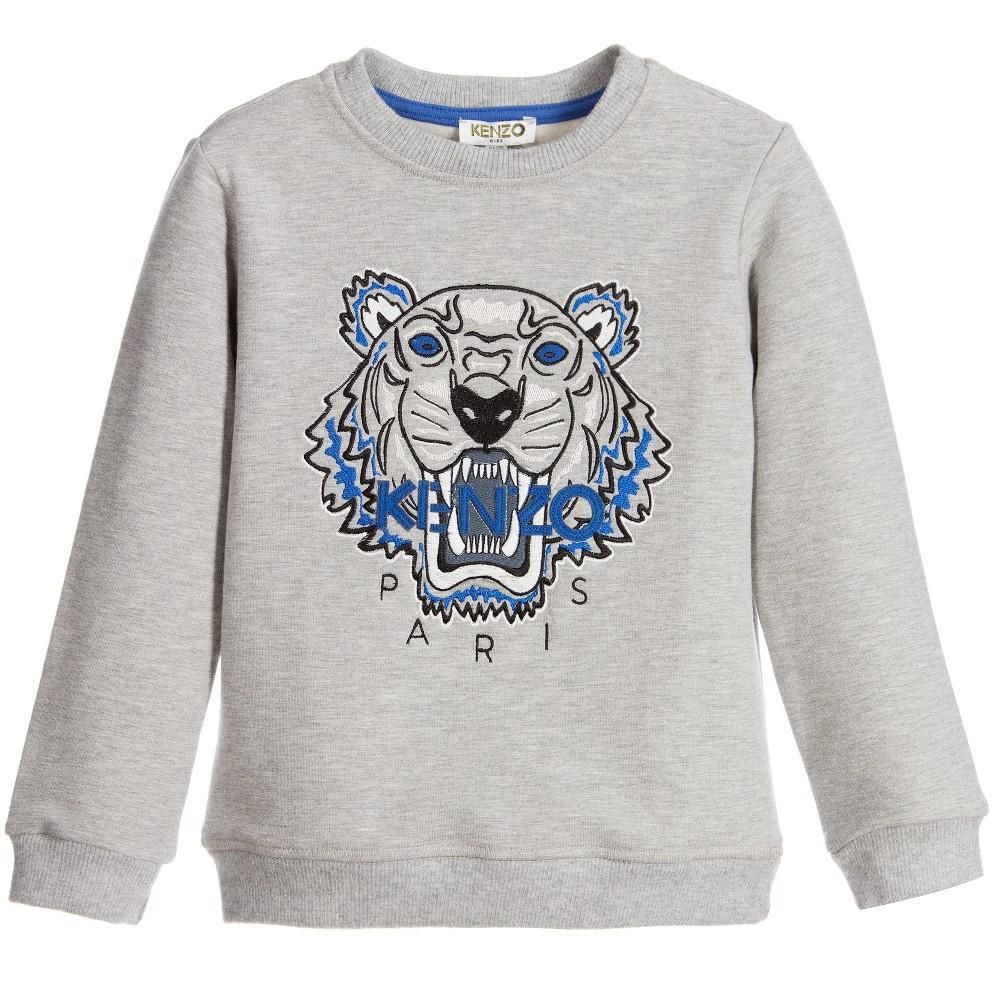 4e0f8a732653f Unisex Grey Tiger Logo Sweatshirt in 2019