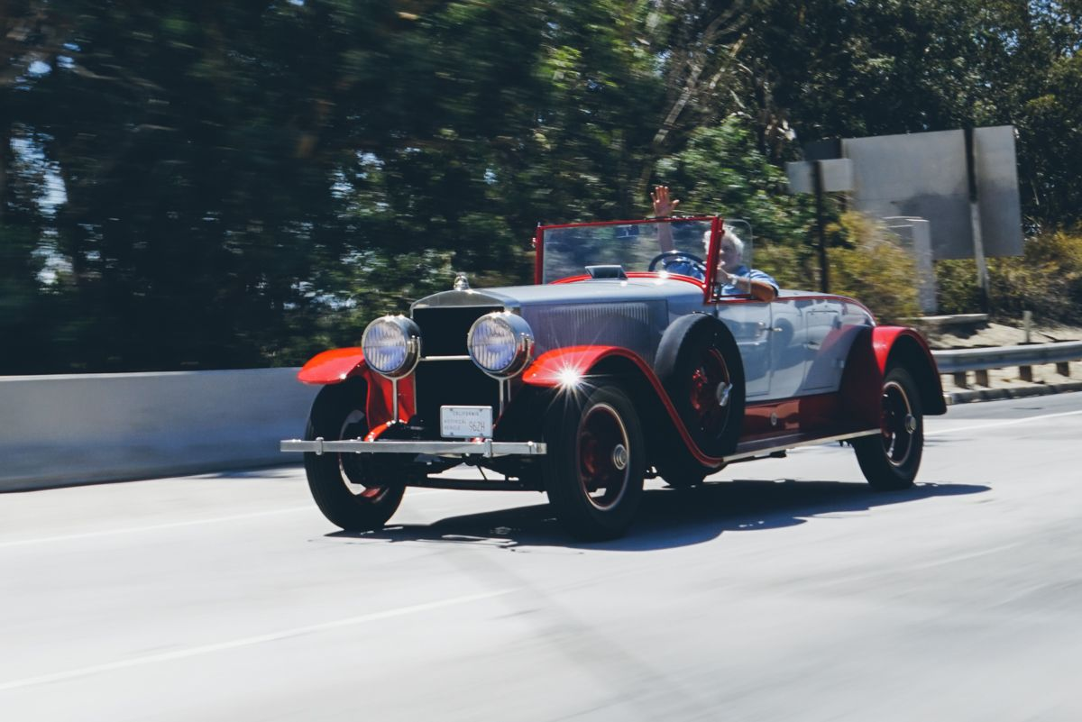 We Spotted Jay Leno Driving On The 5 Freeway Near Burbank Ca