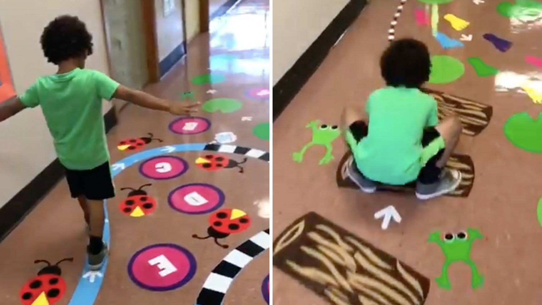 Watch the Video of the Sensory Path the Internet Has Fallen in Love With is part of Sensory classroom - A special education teacher designed a sensory path that went viral  See how it works