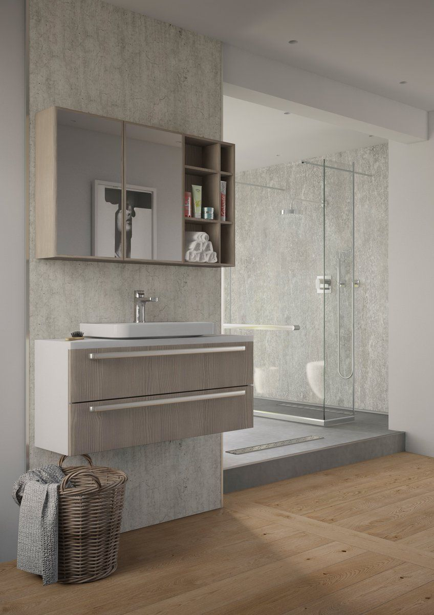 Bathroom installation design featuring our Selkie Board ...