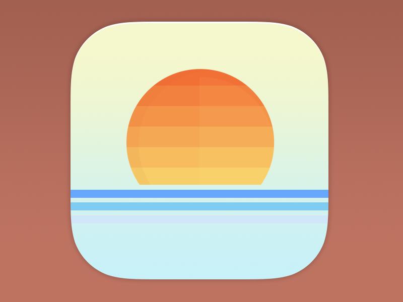 80 S California Ios App Icon App Icon App Icon Design