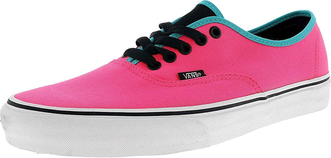 9228a2156824d Amazon.com | Vans Authentic Black Outsole Fashion Sneakers, Neon ...