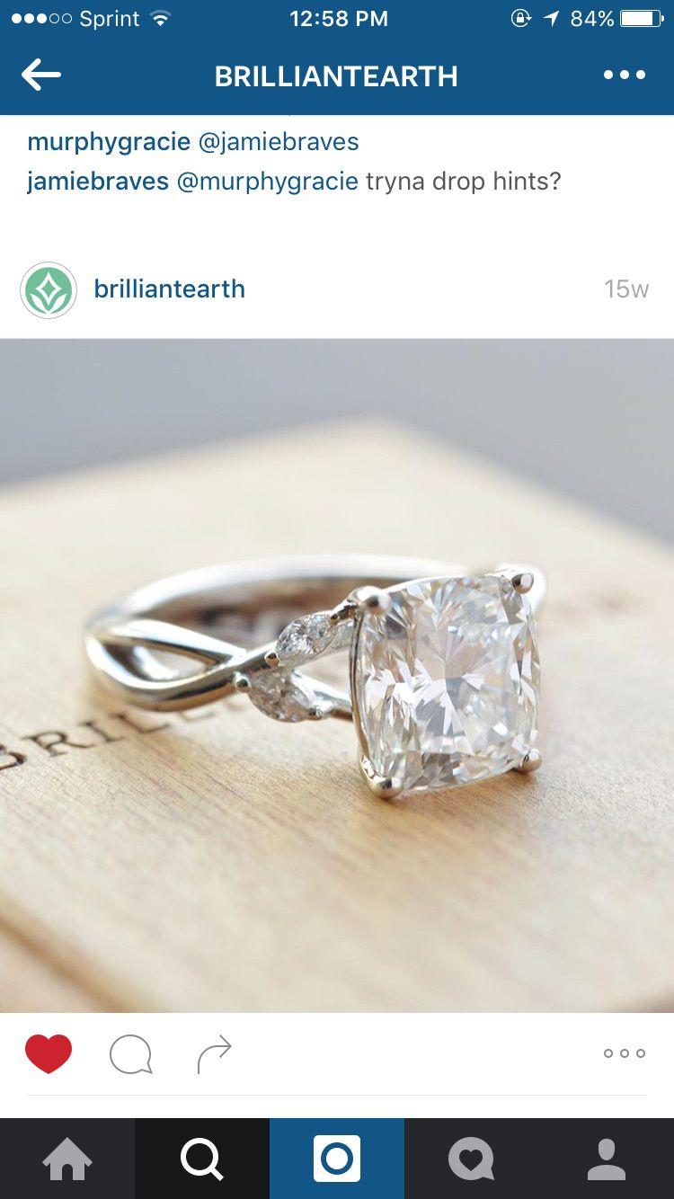 Brilliant Earth Diamond Leaf Cross Band Engagement Ring