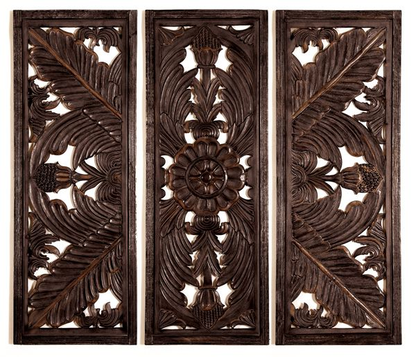 "Wood Carved Wall Decor 70""w x 54""h wood carving wall decor 