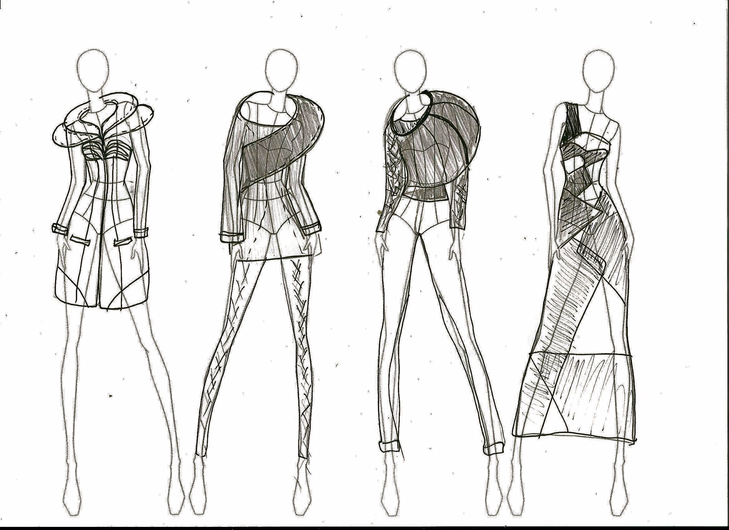 initial sketches derived from ass 1