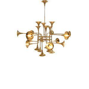 Botti Art Deco Vintage Chandelier Handmade With Brass Tubes Delightfull