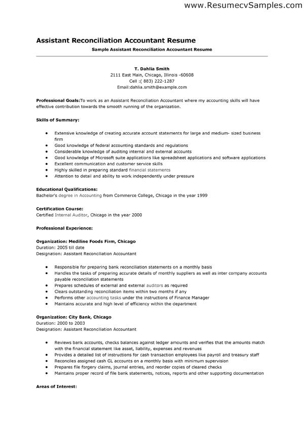 Accounting Assistant Resume Samples 2015 let me help you with ...
