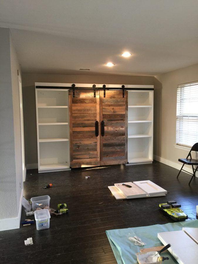 DIY Sliding Barn Door Hidden Study | Barn door, Diy ...