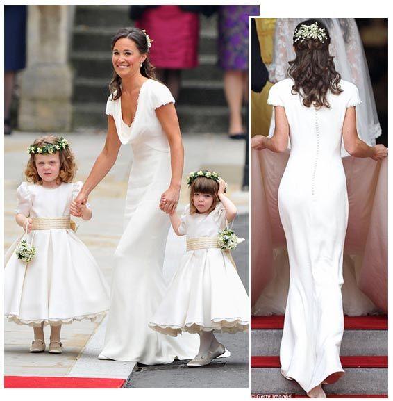 White bridesmaid trend pippa middleton royalwedding for Pippa middleton wedding dress buy