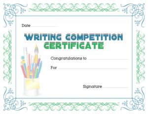 Writing competition award certificate template for ms word download writing competition award certificate template for ms word download at httpcertificatesinn yadclub Choice Image