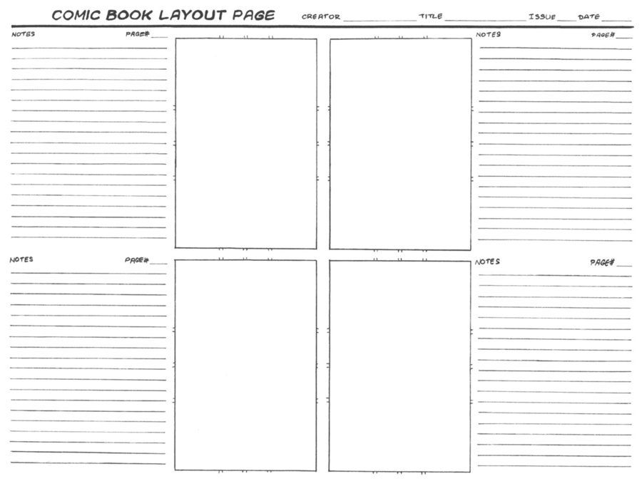 Comic Layout Template by Langepon RESOURCES templates Pinterest