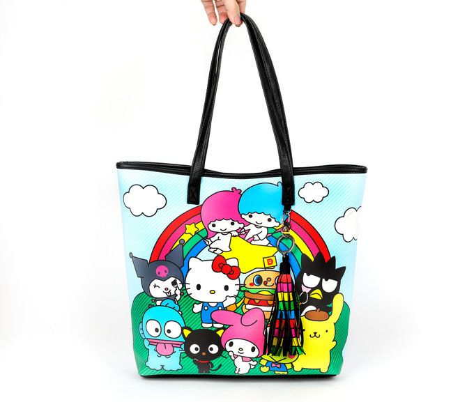 This hello sanrio tote bag lets you take all your favorite Sanrio friends  with you on 2f8e81a6edb5b