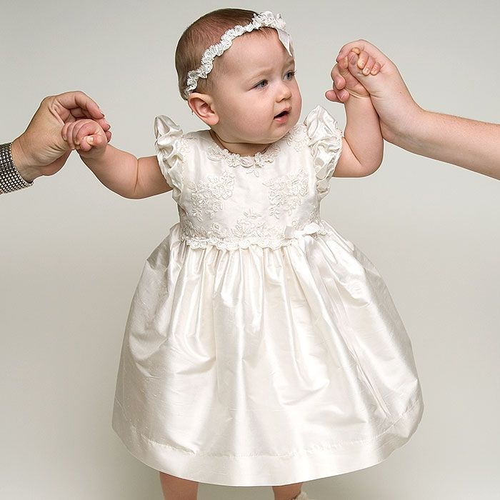 1000  images about baby girl christening gowns on Pinterest | Silk ...