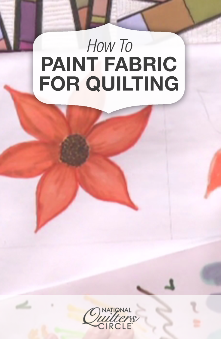 How to Paint Fabric for Quilting #paintfabric
