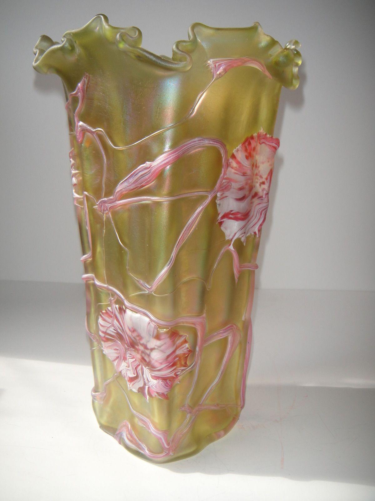 Aurene favrile gold iridescent art glass vase ebay glass aurene favrile gold iridescent art glass vase ebay floridaeventfo Images