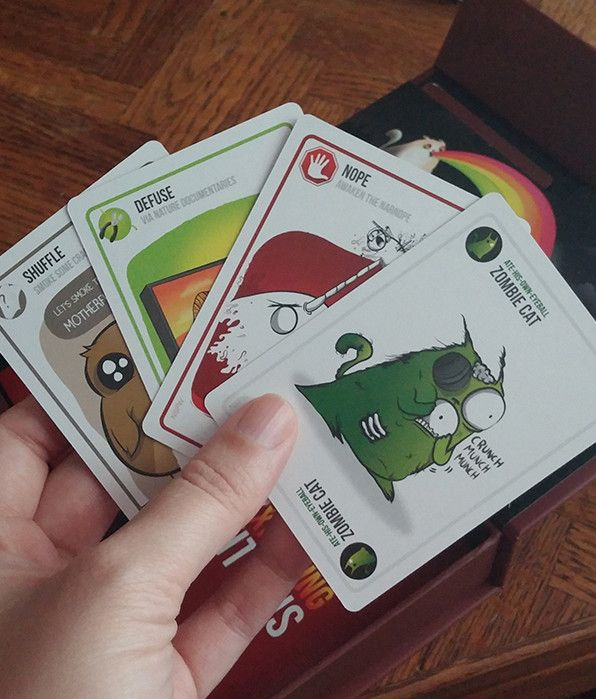 If Only It Wasn T So Much Fun To Play We Would Not Have The Urge To Play The Whole Pack Of Cards In One Night Great Exploding Kittens Zombie Cat Pack
