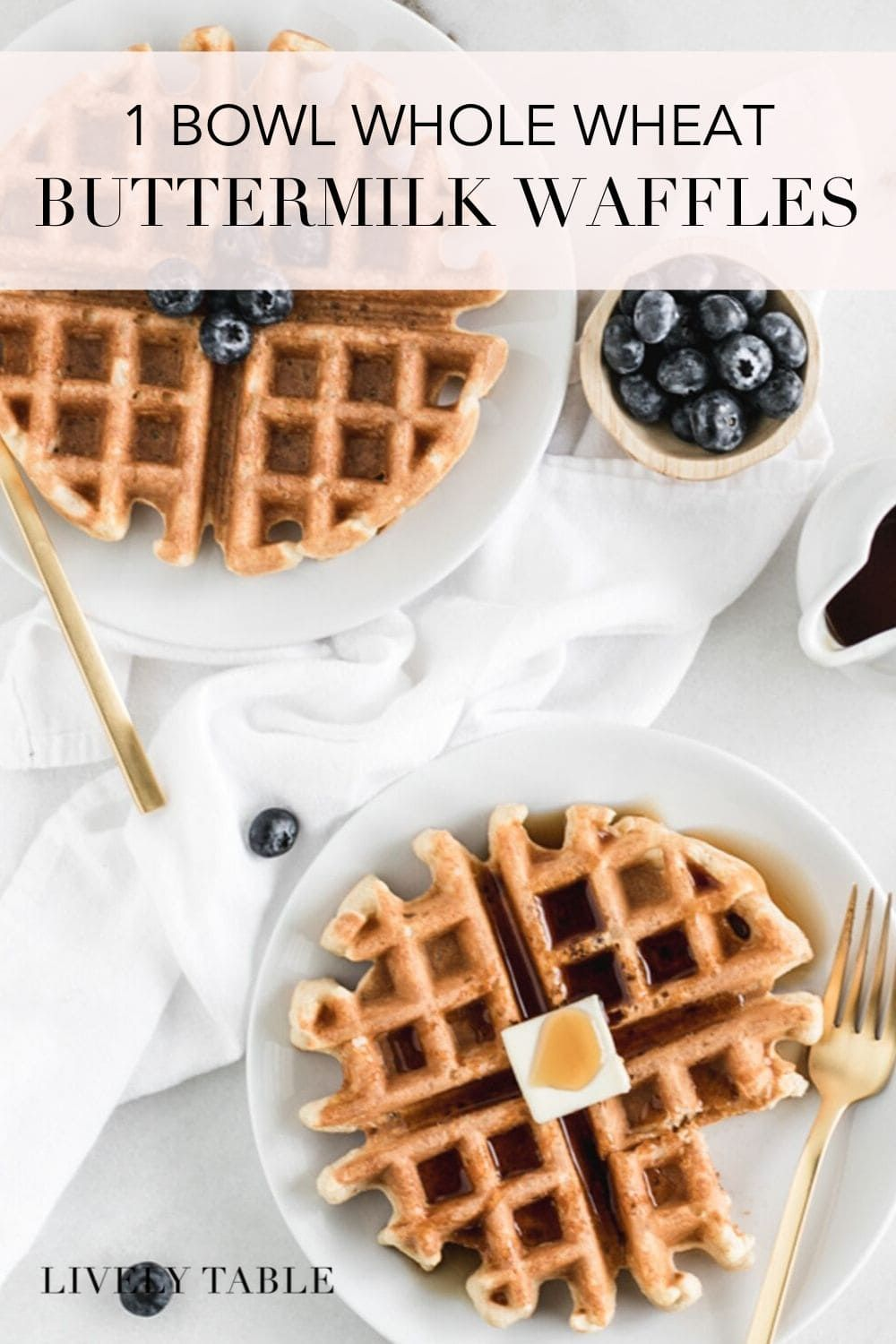 One Bowl Whole Wheat Buttermilk Waffles Recipe In 2020 Healthy Waffles Yummy Food Dessert Whole Wheat Waffles