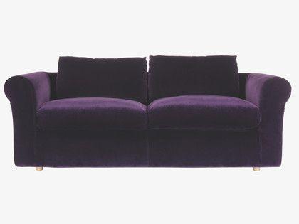Louis Purple Velvet 4 Seater Sofa My