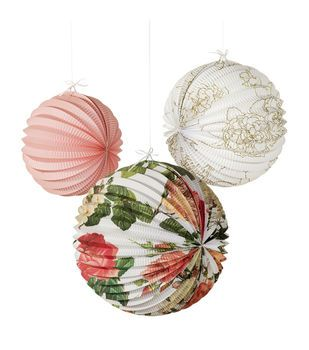 Perfect Spice Up Your Garden Party With These Brilliant Floral Accordion Lanterns.  Ideal For Many Occasions Good Ideas