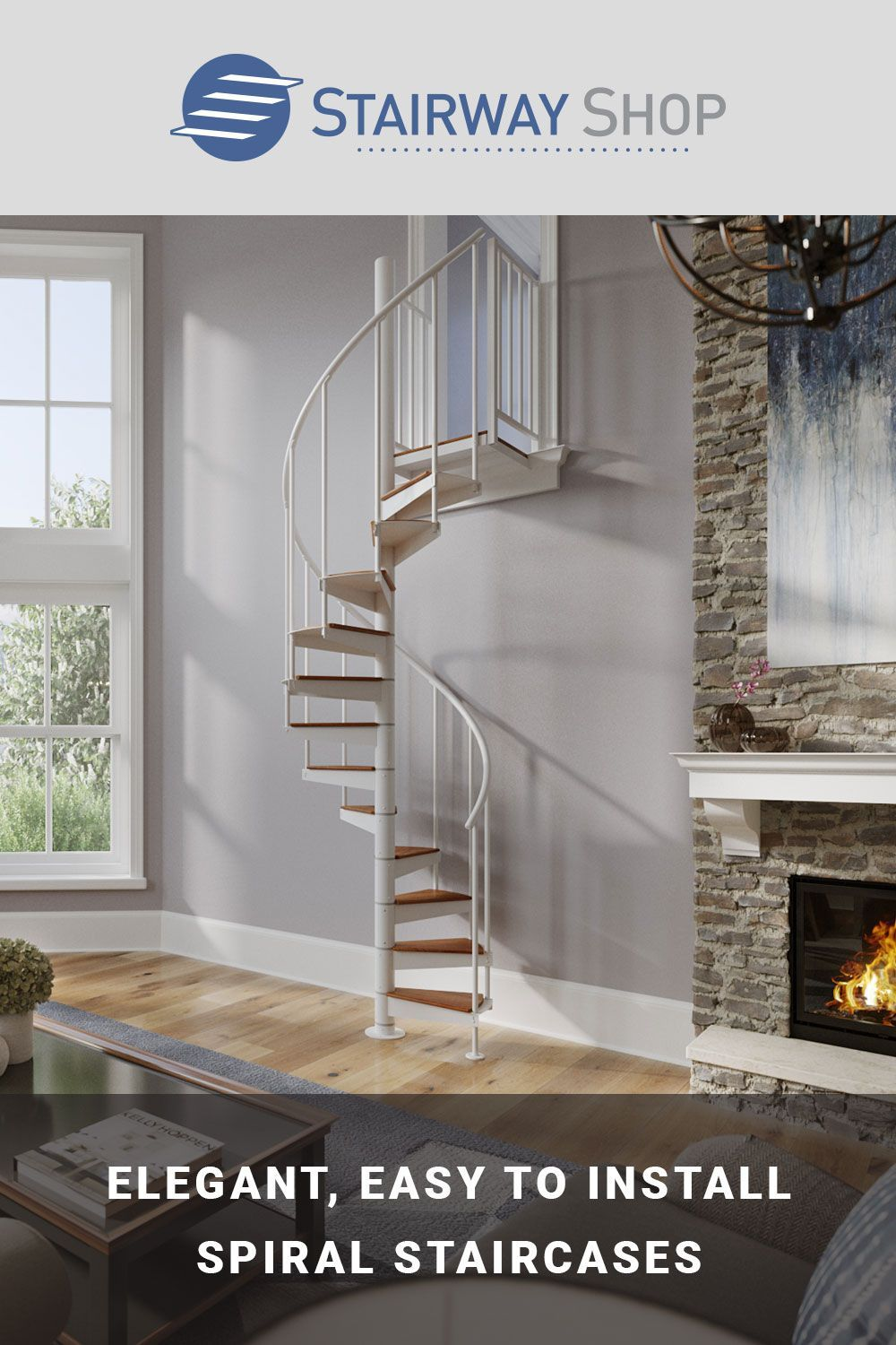 Spiral Staircase Remodel in 2020 Staircase remodel