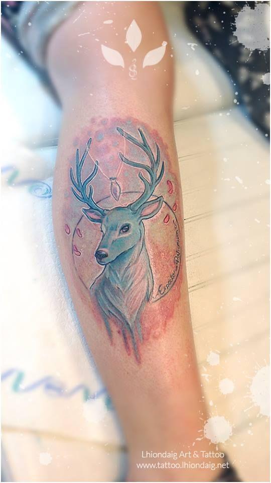 Patronus Tattoo Almost Finished Illustrated And Tattooed By Myself Harrypotter Tattoo Patronus Tattoo Black Bird Tattoo Tattoos