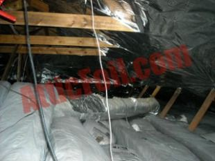 Radiant Barrier Stapled Up Over Duct Work In Attic To Keep Ducts More Efficient By Stopping Radiant Heat Gain From Foil Insulation Radiant Barrier Radiant Heat