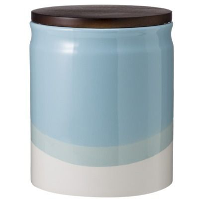 Threshold Ceramic Dipped Paint Large Food Canister With