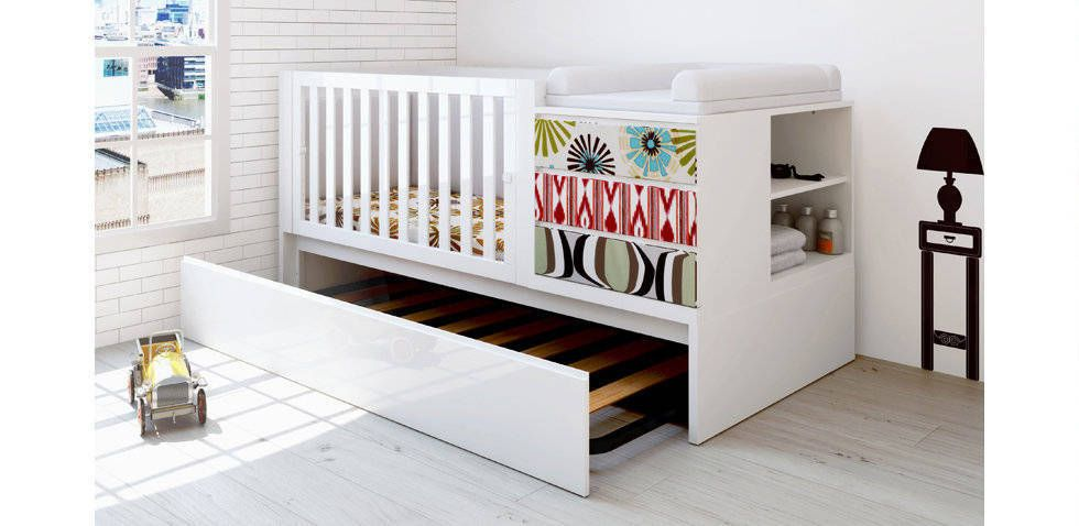 trundle beds under crib   Perfect for when you need a spare bed
