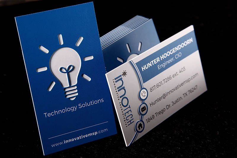 silk business card x3 48pt three layer card stock with custom diecut free - Custom Die Cut Business Cards