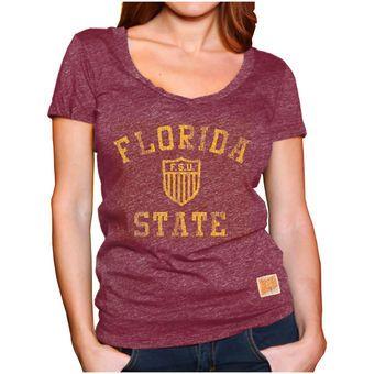Florida State Seminoles Original Retro Brand Women's Mock Twist V-Neck T-Shirt…