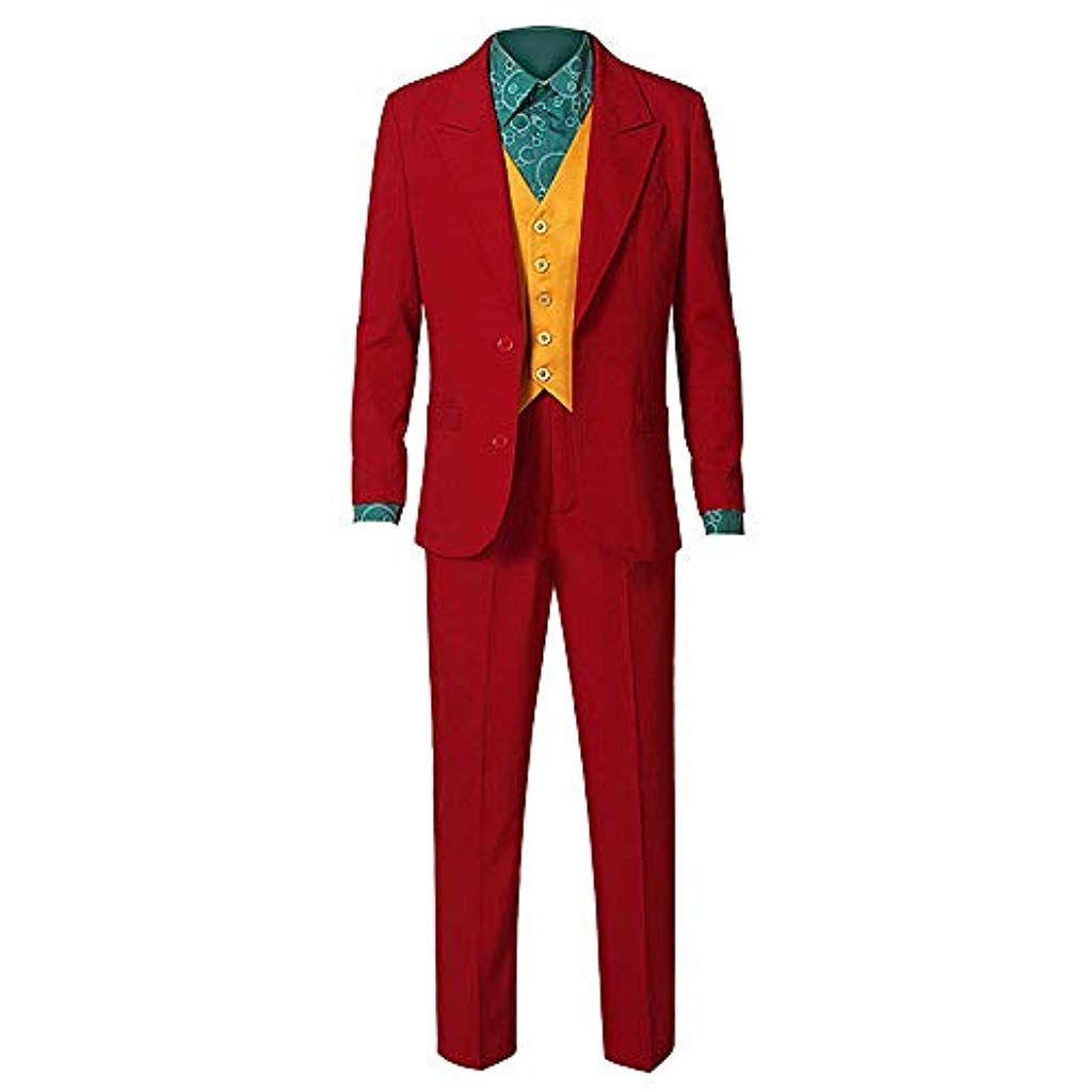 Joker Kostum Halloween 2019 Cosplay Rot Shirt Weste Hose Anzug Party Outfit Arkham Asyl Arthur Fleck Anzug Fur Manner Ki Joker Kostum Party Outfit Manner Anzug