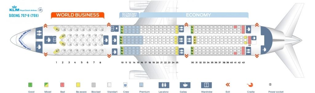 Seat Map Boeing 787 9 Dreamliner Klm Best Seats In The Plane Regarding 787 Seating Chart 787seatingplanetihad 787seatingplansingapo Boeing 787 9 Dreamliner Boeing 787 Dreamliner Seating Charts