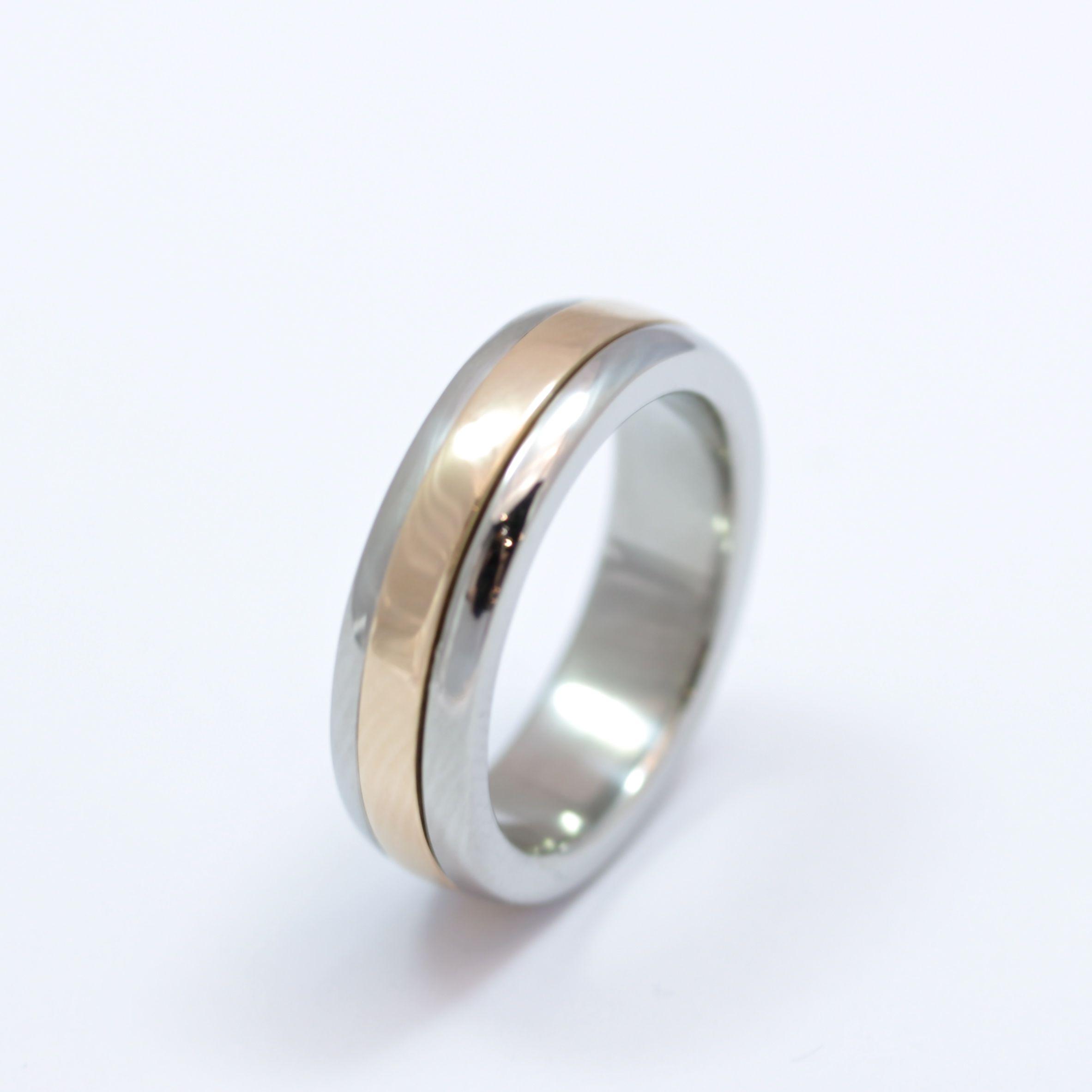Ladies Palladium And Rose Gold Spinning Wedding Ring Wedding Rings Cork City Wedding Rings Palladium Wedding Ring Rings
