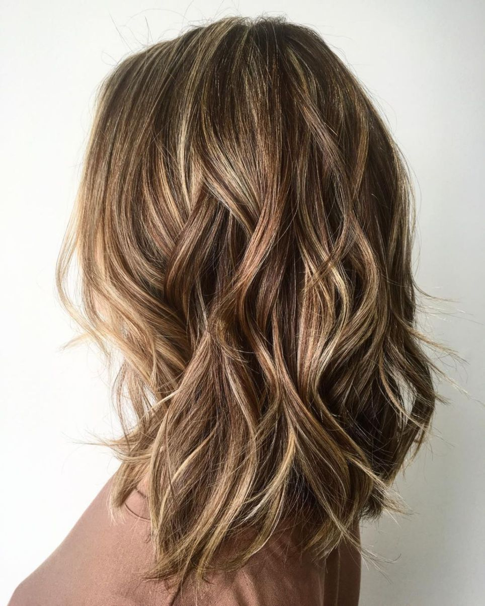 12++ Long lob haircut with layers trends