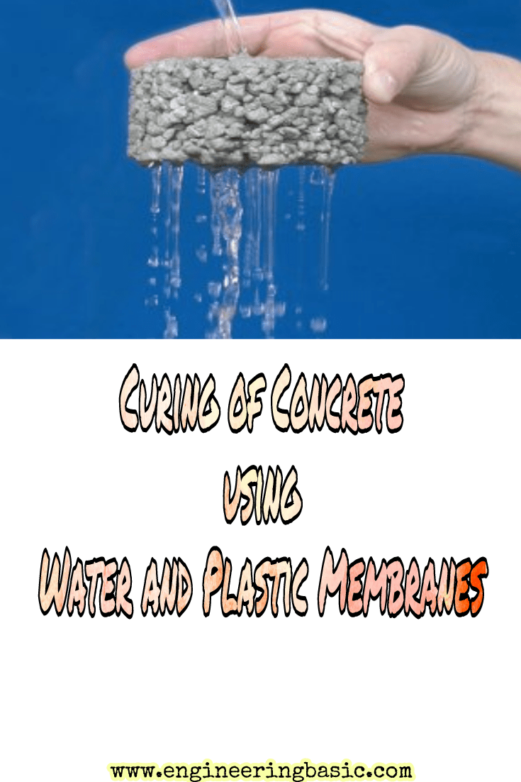 Curing Of Concrete Using Water And Plastic Membranes With Images Concrete Curing Concrete The Cure