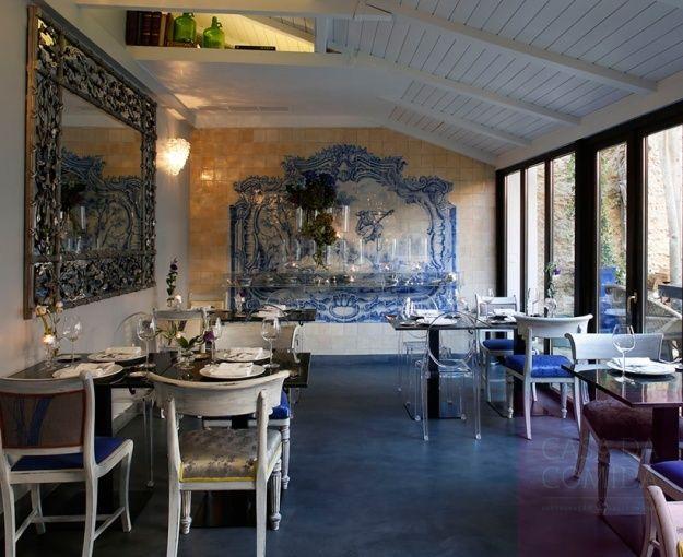 Restaurante casa da comida lisboa decora o cl ssica com for Restaurante azulejos