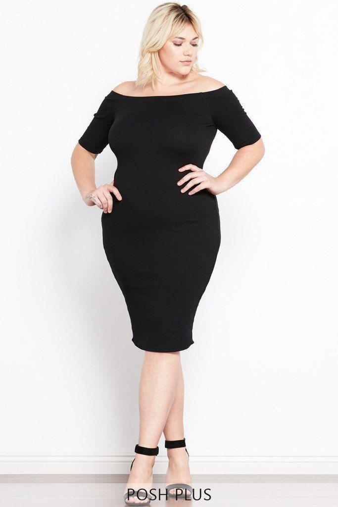 Heartbreaker Off The Shoulder Dress Plus Size Shoulder Dress