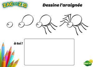 Apprends dessiner l 39 araign e jolis coloriages et - Comment dessiner une sorciere facilement ...