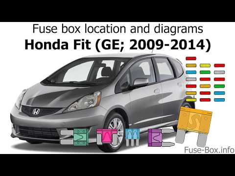1269 Fuse Box Location And Diagrams Honda Fit Ge 2009 2014 Youtube Honda Fit Honda Fuse Box