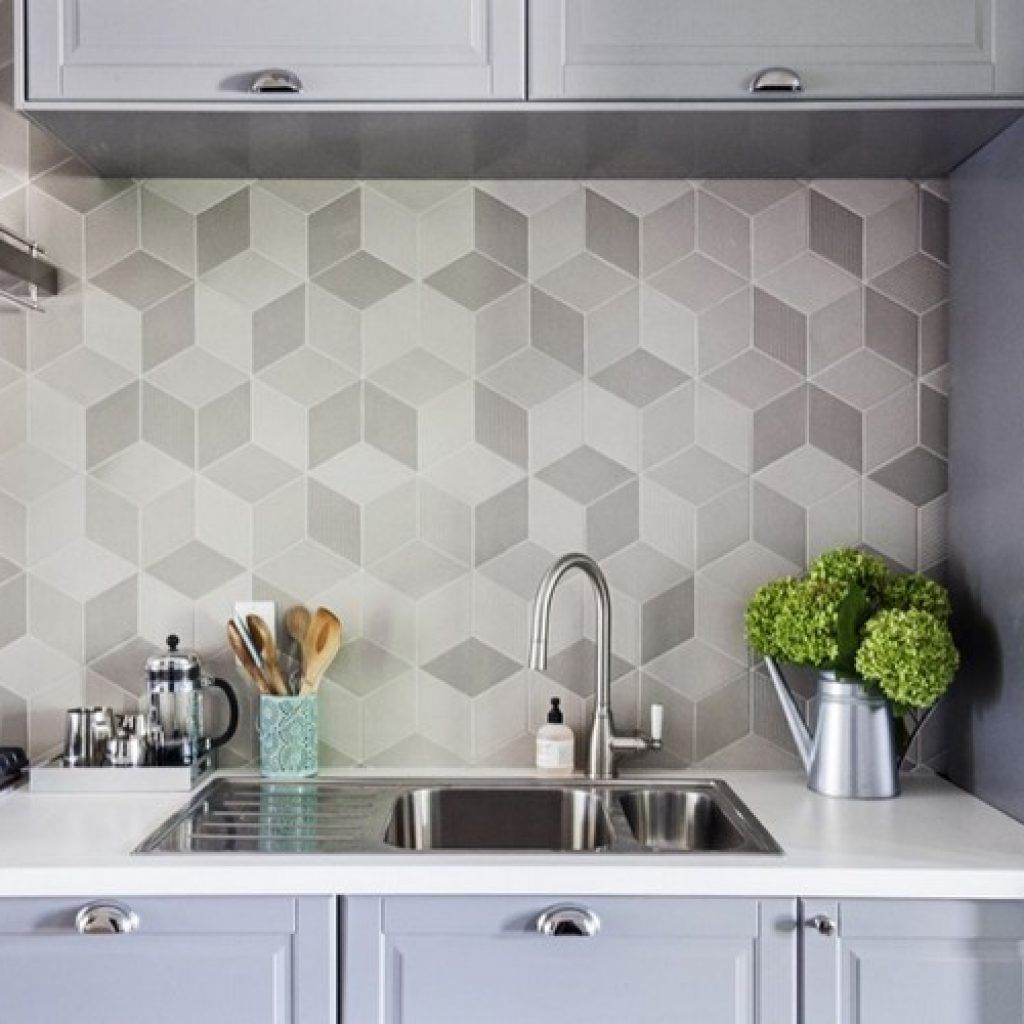 70 Stunning Geometric Backsplash Tile Kitchen Ideas Kitchen